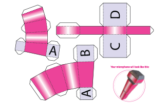 Activities Printable Popstar Microphone