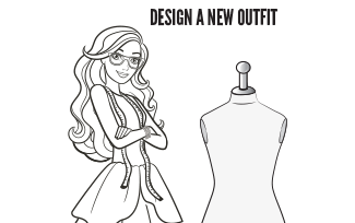 Activities Printable Fashion Designer