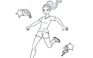 Activities Printable Soccer Player