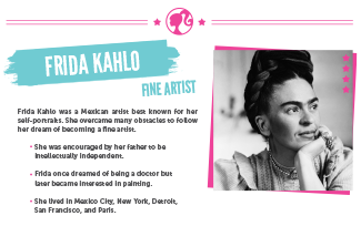 Activities Inspiring Women Frida Kahlo