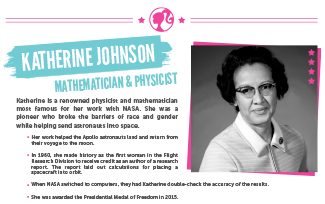 Activities Inspiring Women Katherine Johnson