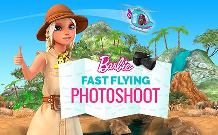 Barbie Fast Flying Photoshoot Image