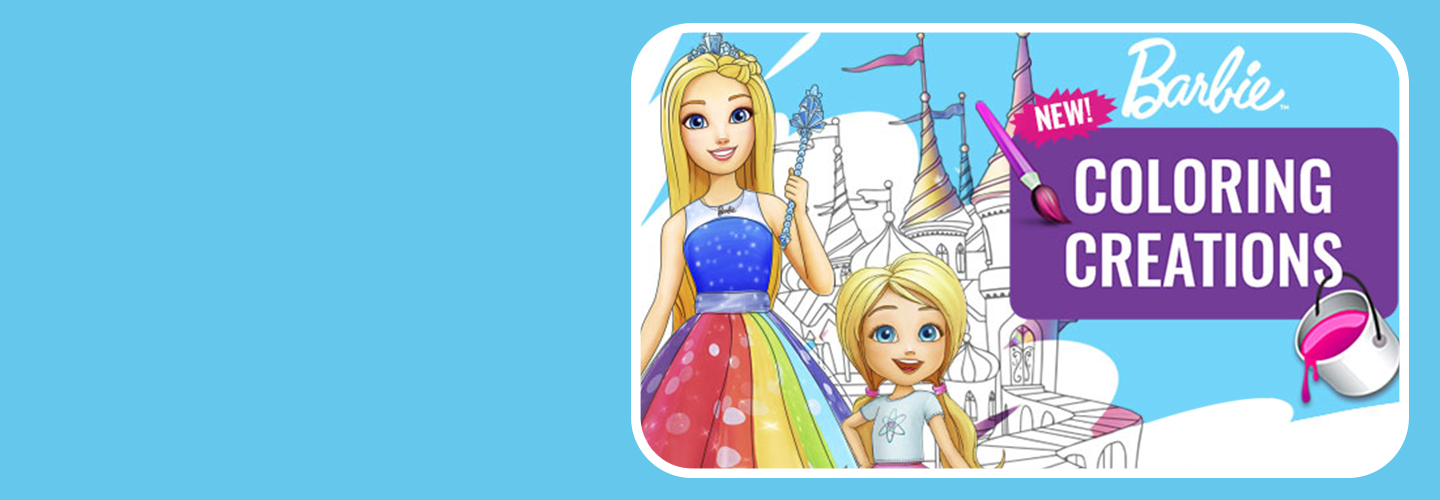 Barbie Coloring Magic Image
